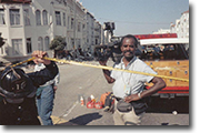 Bill Moore covering the 1989 San Francisco Earthquake for KTVU-TV