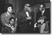 Belva, son Steven with legendary musican Ray Charles